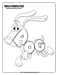 Word World Coloring Pages Dog Year Download Disney Free Book
