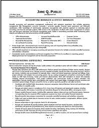 Accounting Mangager Resume Sample Manager