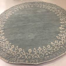 New Pottery Barn Desa Bordered Wool Round Rug Blue 8' Diameter Nwt ... Pottery Barn Desa Rug Reviews Designs Blue Au Malika The Rug Has Arrived And Is On Place 8x10 From Bordered Wool Indigo Helenes Board Pinterest Rugs Gabrielle Aubrey