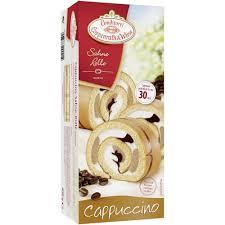 sahne rolle cappuccino tiefgekühlt
