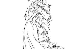 Disney Princess Tangled Rapunzel Coloring Pages Free