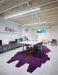 Exposed Basement Ceiling Lighting Ideas by Exposed Basement Ceiling Traditional With Black New York Carpet