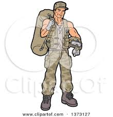 Clipart Of A Female Army