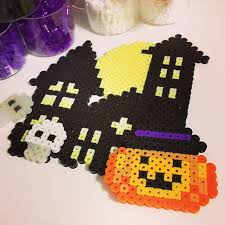 Halloween Perler Bead Templates by Halloween 制作途中 Perlerbeads Perler Halloween U201d P