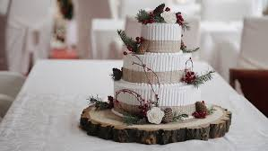 Wedding Cake With Berries Rustic