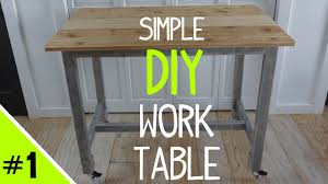 Building A Simple Wood Desk by Build A Simple Diy Work Table Frame 1 Of 2 Youtube
