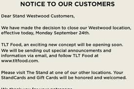TLT Food Replacing The Stand In Westwood - Eater LA Eating My Way Through Oc Tlt Worthy Of The Limelight La Food Trucks Truck Events Orange Countys Musteats Under 5 Hole In Wall Westwood Unicorns Are Real Restaurants You Have To Try Westwood Before Graduate Best Restaurants For Locals Visitors And Students Sun City Blends Los Angeles Roaming Hunger Replacing The Stand Eater