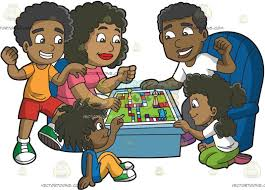 A Black Family Playing Board Game