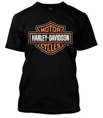 Harley Davidson Mens Orange Bar Shield Black T Shirt 30290591
