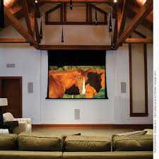 Drop Ceiling Mount Projector Screen by Electric Projection Screens Draper Inc