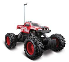 Amazon.com: Maisto Tech Red Radio Control Rock Crawler RC Remote ...