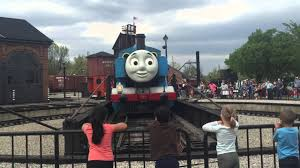 Halloween At Greenfield Village 2014 by Real Thomas The Tank Engine Going Into The Roundhouse At