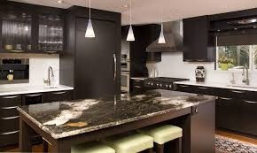 Espresso Kitchen Cabinets Modern With Stainless Steel Bar Pulls