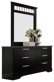 standard furniture atlanta 6 drawer dresser with mirror in ebony