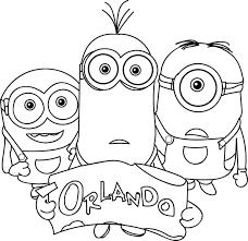 Minions Orlando Coloring Page