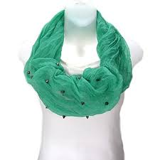 Infinity Scarf With Spikes Studded Mint