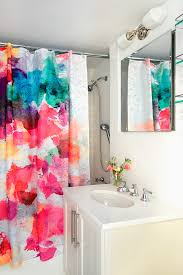 curtains for girls with bright shower curtain bathroom