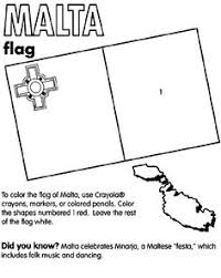 Use CrayolaR Crayons Colored Pencils Or Markers To Color The Flag Of Malta Southern EuropeFree Coloring PagesThe