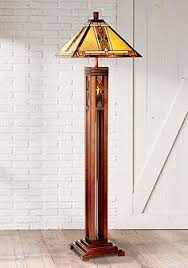 Tiffany Style Glass Torchiere Floor Lamp by Walnut Mission Tiffany Style Night Light Floor Lamp Donna U0027s