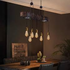 zmh pendelleuchte pendelleuchte holz vintage hängele esszimmer holz holzbalken hängeleuchte küche 6 flammige kaufen otto