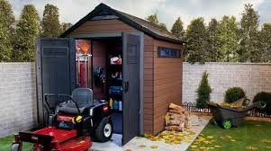 Keter Woodland Lean To Storage Shed by Fusion 757 Outdoor Storage By Keter Thick Double Wall Wood