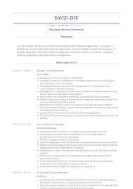 Human Resources - Resume Samples & Templates | VisualCV