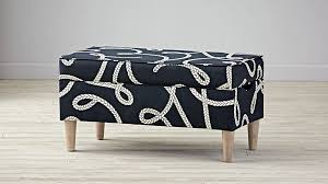 Navy Storage Bench by Navy Blue Nautical Storage Bench The Land Of Nod