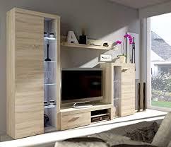 küchen preisbombe wohnwand rumba anbauwand wohnkombi wohnzimmer sonoma eiche matt