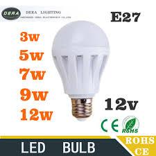 10piece led bulbs 3w5w7w9w12w led light bulb dc 12v e27 12 volt