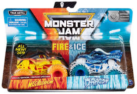 100 Monster Jam Toy Truck Videos Fire Ice Megalodon Dragon Exclusive 164 Diecast Car 2