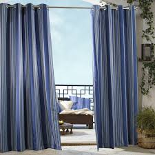 Sunbrella Curtains With Grommets by Outdoor Decor Gazebo Stripe Grommet Outdoor Curtain Panel Hayneedle