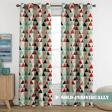 Geometric Pattern Window Curtains by Blue Floral Window Curtain Drape Panels U2013 Ease Bedding With Style