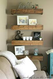 Floating Wood Shelves Are Easy To Make And Theyre Fun Decorate Fill The With Family Photos Vintage Decor Bright Plants