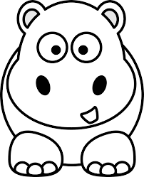 Enjoyable Inspiration Ideas Hippo Coloring Pages 3 Png 1979x2443 Cartoon Hippopotamus Page