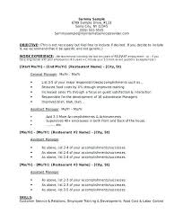 Fast Food Manager Resume Sample Examples Of Restaurant Resumes Hotel Marketing Template