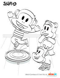 Nick Jr Coloring Pages Fresh Julius And Friends Having A Blast