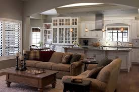 Harmonious Open Kitchen To Dining Room by Open Kitchen And Living Room Design Ideas