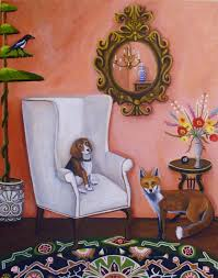 100 Pinterest Art Studio Catherine Nolin The Fox The Hound And Magpie New