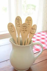 Custom Kitchen Spoons Personalized Gifts Wood