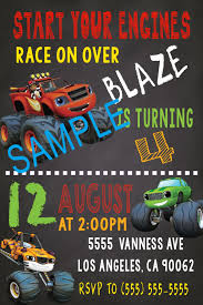 100 Truck Birthday Invitations Blaze And The Monster Machines Templates New 20