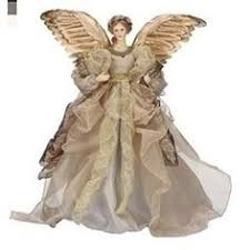 Roman 165 Celebration Gold And Brown Angel Christmas Tree Topper