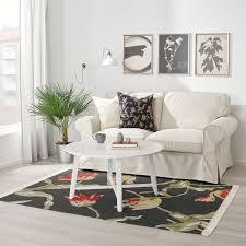 ålandsrot teppich flach gewebt schwarz handarbeit 133x195 cm