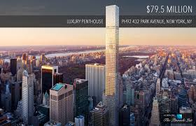 100 Penthouses For Sale In New York PH92 Luxury Penthouse 432 Park Avenue NY USA