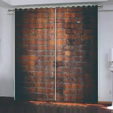 Schlafzimmer Vorhã Nge Großhandel European Style 3d Blackout Vorhänge Retro Rote Backsteinmauer Photo Vorhang Schlafzimmer Wohnzimmer Küche Vorhänge Dekor Lcwallpapers