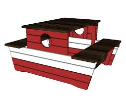 ana white pirate picnic table diy projects