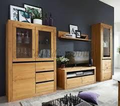details zu massivholz wohnwand 4teilig kiefer gelaugt geölt anbauwand wohnzimmer schrank