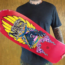 Cheap Skate Mental Decks by Natas Kaupas Panther Reissue Deck Red In Stock At The Boardr