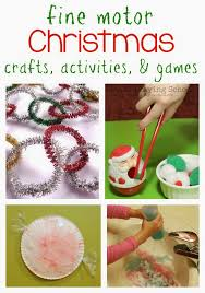 Christmas Crafts Activities And Games For Kids Are Festive Ways To Work Fine Motor Skills Your Children Will Be Strengthening Their Hands While Playing