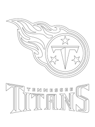 Click To See Printable Version Of Tennessee Titans Logo Coloring Page