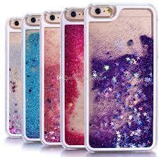 Transparent Phone Cases Fun Glitter Star Quicksand Liquid Phone